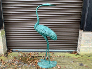 Large 5ft Cast Metal Stork