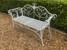 Load image into Gallery viewer, White Ornate Bench