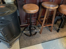Load image into Gallery viewer, Vintage Style Pedal Bar Stool