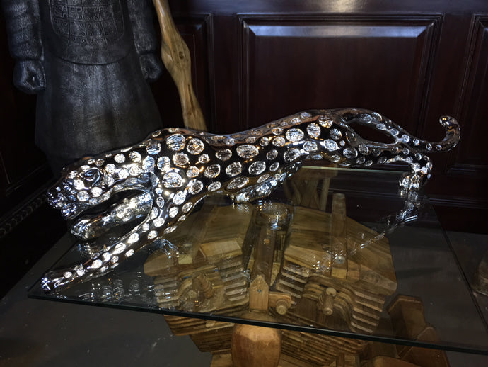 Silver Resin Jaguar