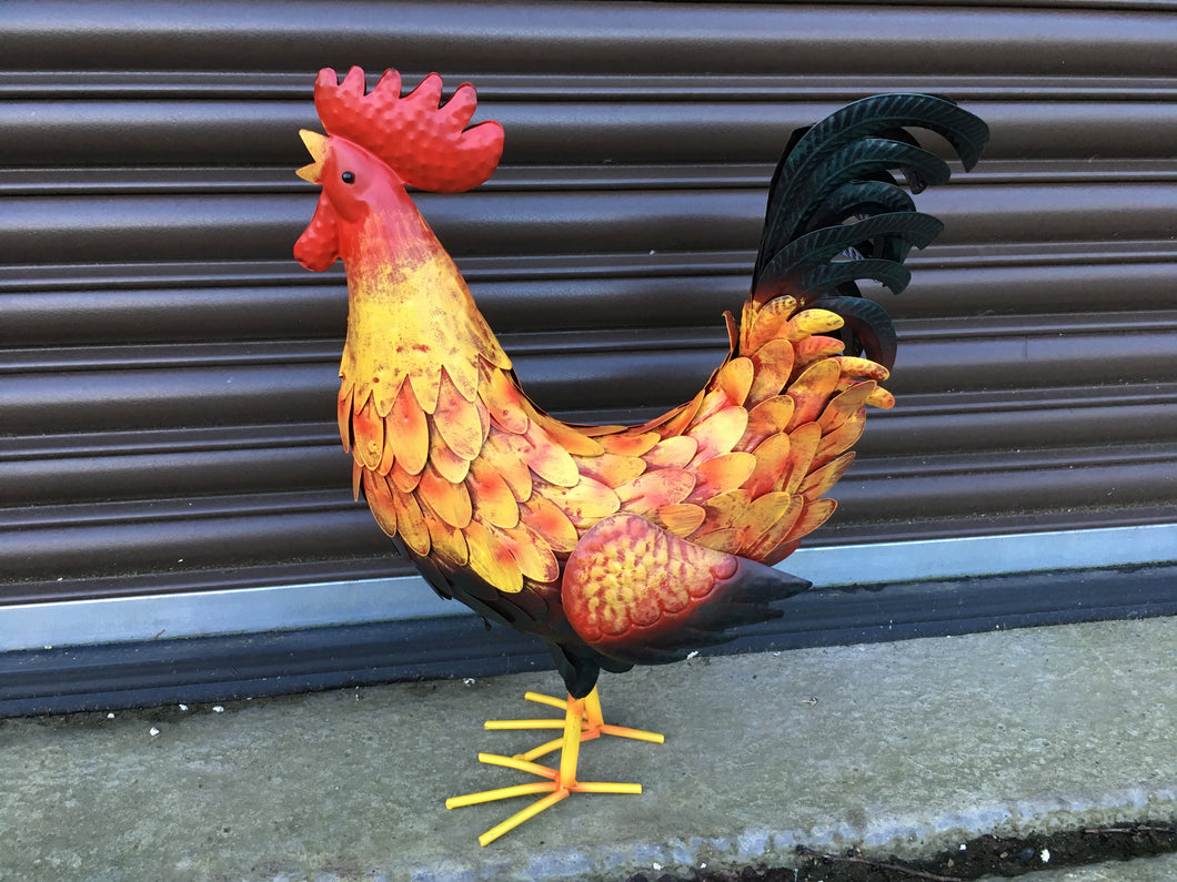 Metal Painted Cockerel