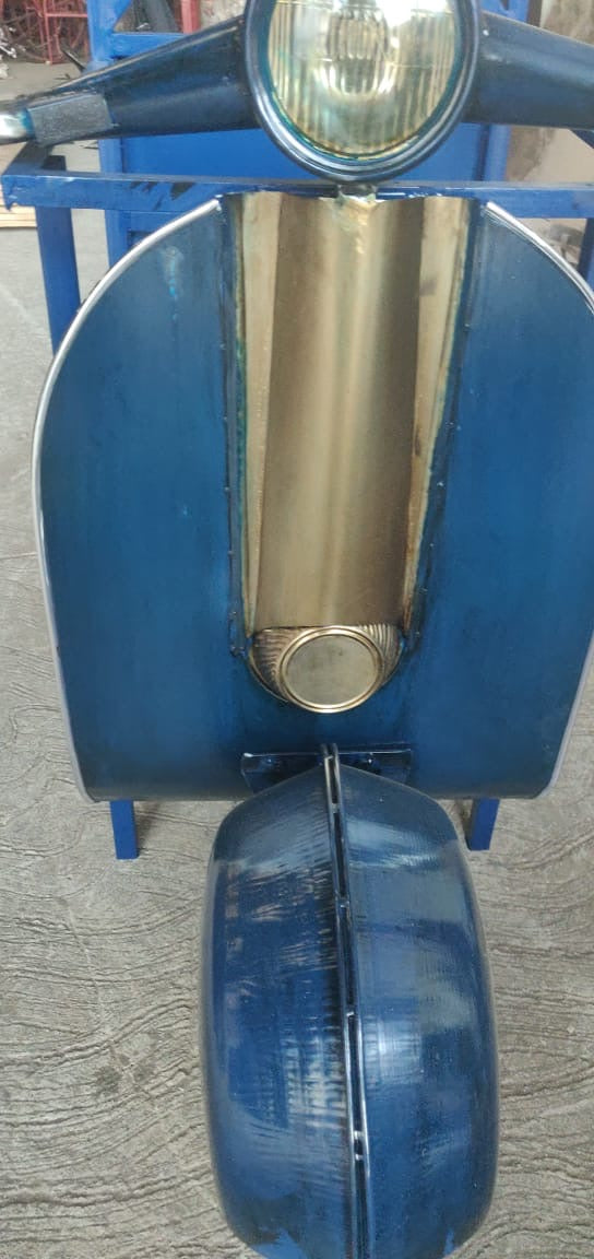 Retro Blue Vespa Side Table