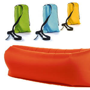 Inflatable Lazy Air Bed Lounger - Red