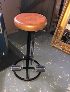Vintage Style Pedal Bar Stool