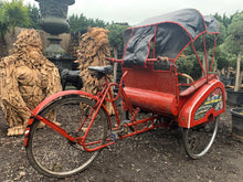 Load image into Gallery viewer, Original Indonesian 1960s pedal rickshaw taxi