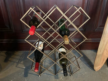 Load image into Gallery viewer, Exceptional Designer Wine Rack in a Brass Finish
