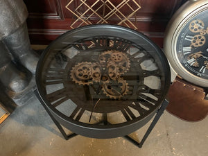 Clock Table with Moving Works
