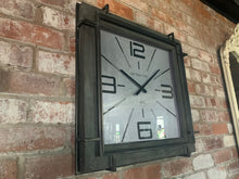 Load image into Gallery viewer, Square Industrial Wall Clock