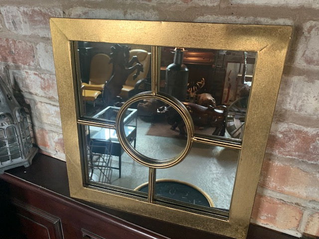 Square Mirror in Gold