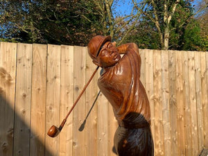 High Quality Hand Carved Wooden Golfer