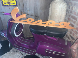 Large Wooden Vespa Shop Sign