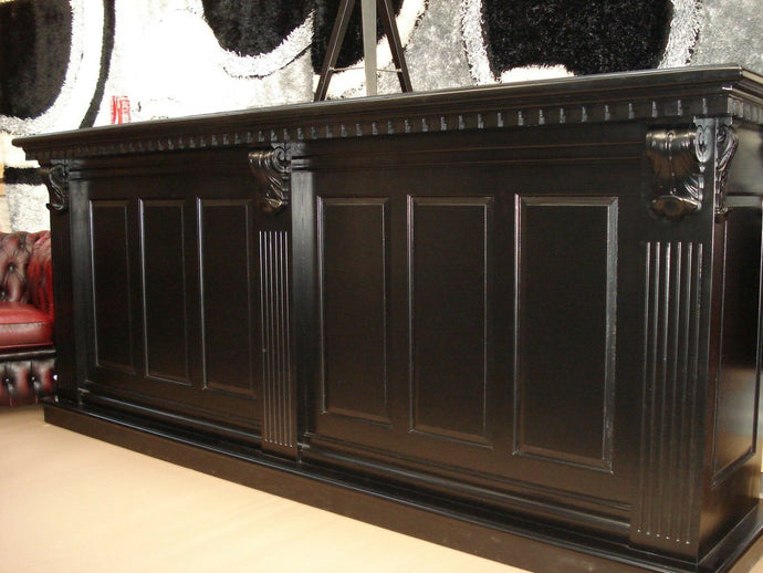 2.6m Black Front Counter