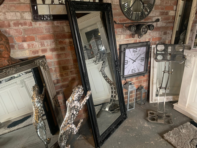 Ornate French Mirror (Black)