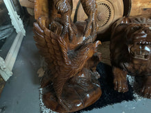Load image into Gallery viewer, Solid Wood Highly Carved Ornate Eagle 1.4m High Statue