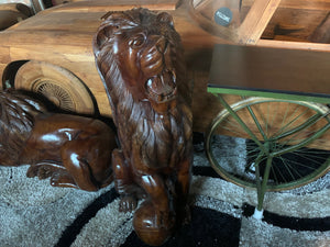 Brand New Highly Carved Wooden Lion