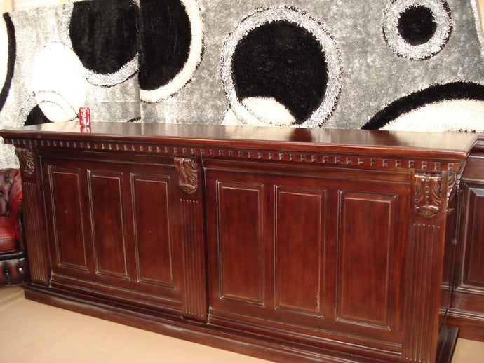 2.6m Period Mahogany Bar Counter
