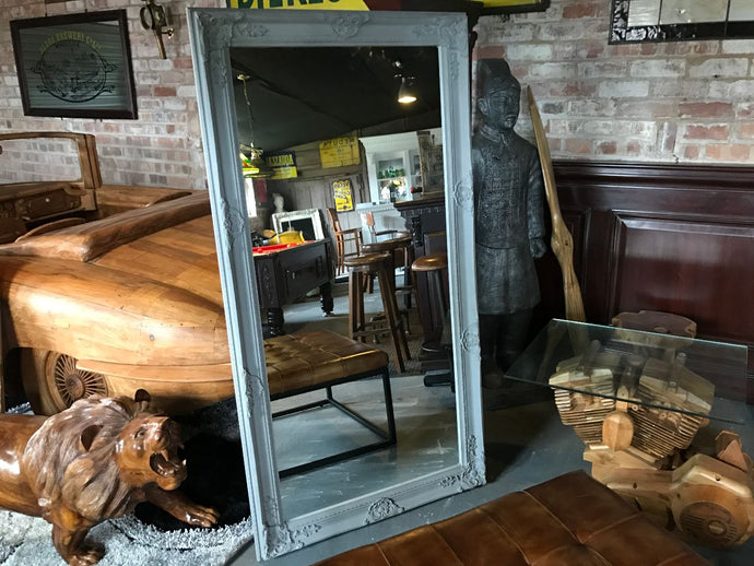 Ornate French Mirror (Grey)