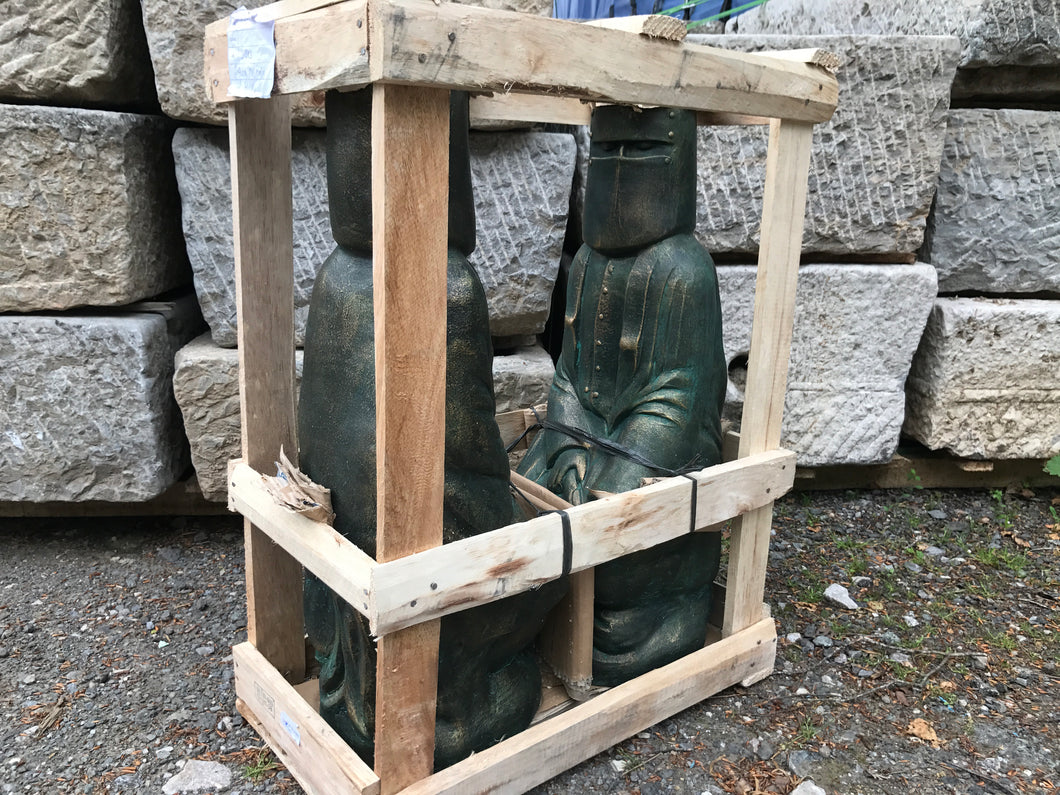 Pair of Terracotta Crated Ned Kelly Statues