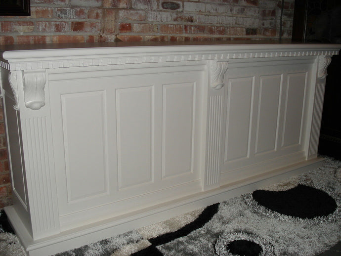 2.6m White Front Counter