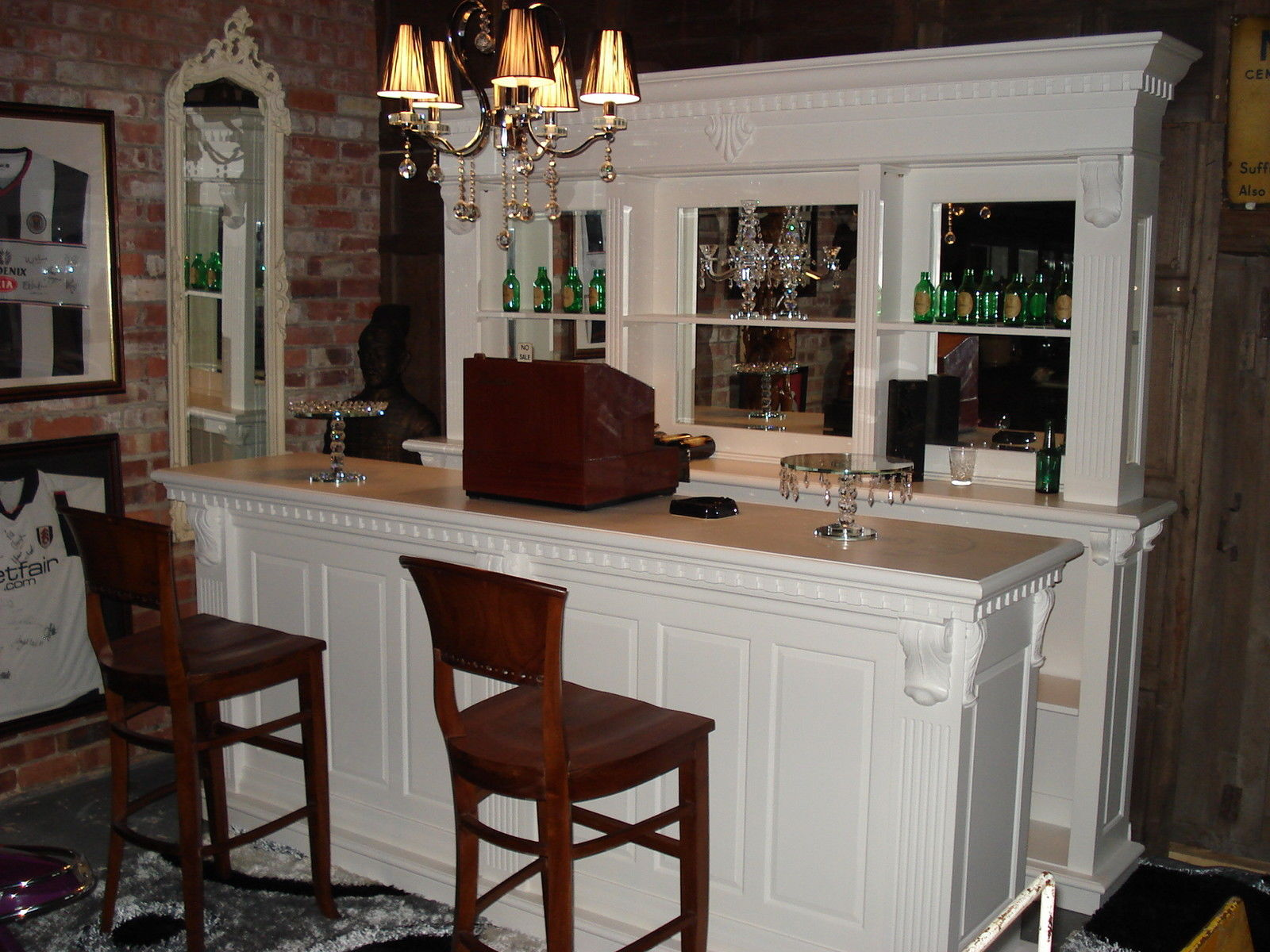 Picture of: 2 6m White Front Counter Mirrored Back Bar John Cowell Limited