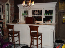 Load image into Gallery viewer, 2.6m White Front Counter & Mirrored Back Bar