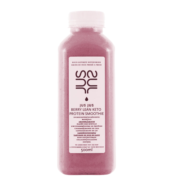 Low sugar, protein and collagen. Workout drink and perfect meal replacer ! JUS JUS - cold pressed, koud geperst, pressé à froid, Antwerpen
