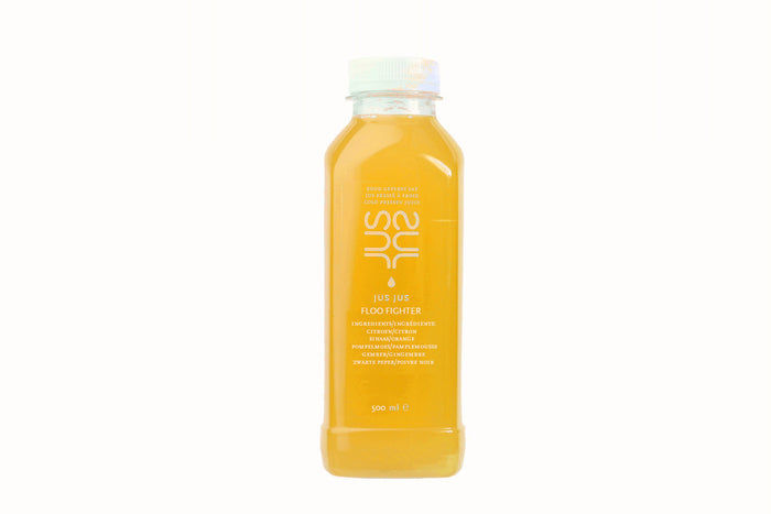 Floo Fighter. Flu Fighter. Protect and boost your immunity. Our support during Flu and Virus season. Bescherm jezelf met deze immuniteit boost. protège-vous avec ce boost d'immunité. JUS JUS cold pressed Antwerpen Belgique