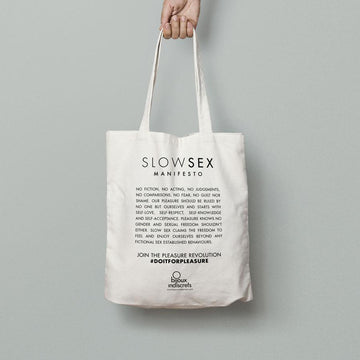 Slow Sex Manifesto · Tote Bag de Algodón
