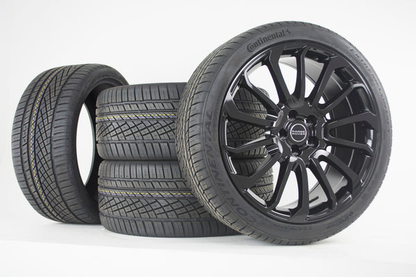 "oneroad-wheels - 22"" Gloss Black Autobiography Wheel Rims Tires 