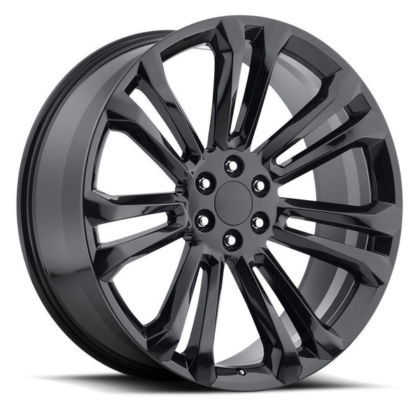 "oneroad-wheels - Gloss Black | GMC Sierra | 22"" Wheels 