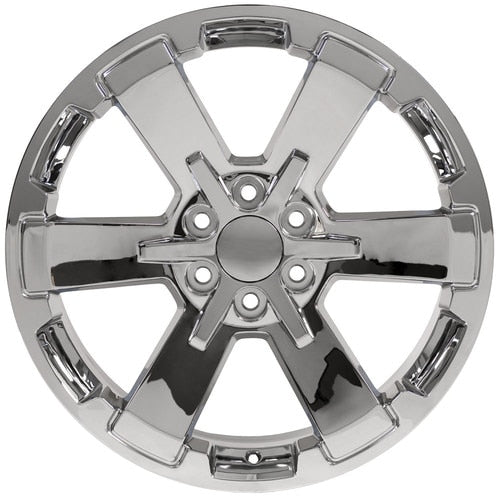 "oneroad-wheels - Chrome | Chevrolet Silverado | 22"" Wheels 