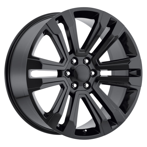 "oneroad-wheels - Gloss Black | GMC Denali | 22"" Wheels 