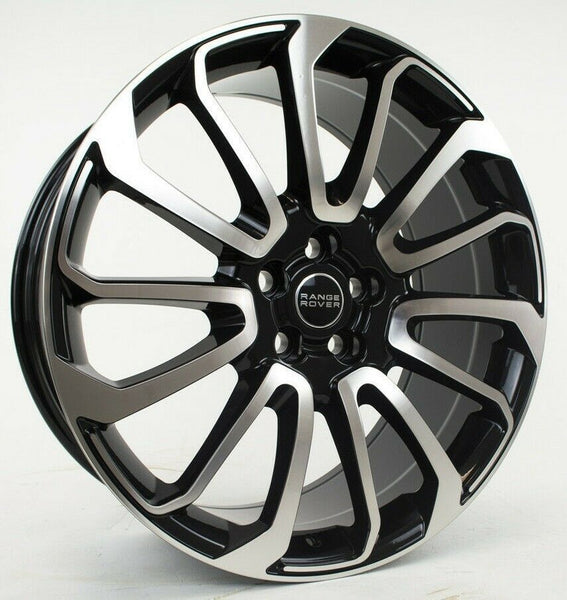 "oneroad-wheels - Machined Black | Range Rover HSE Sport | 22"" Wheels - Wheel"
