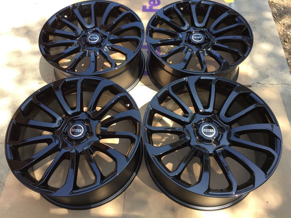 "oneroad-wheels - Gloss Black | Range Rover HSE Sport | 22"" Wheels - Wheel"
