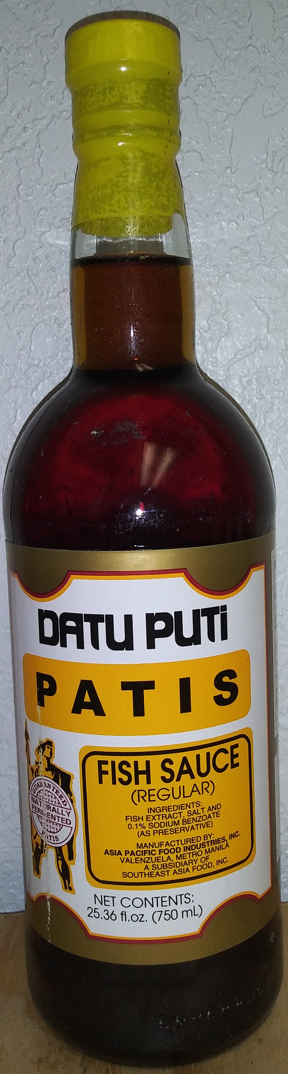 Datu Puti Patis Fish Sauce Regular