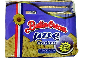 Sunflower Butter Cream Crackers UBE Flavor