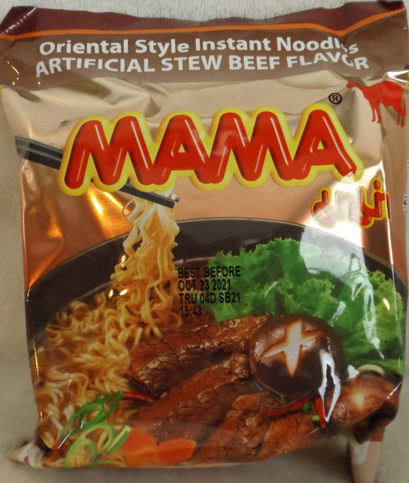 Mama Brand Beef Flavor Oriental Style Noodles