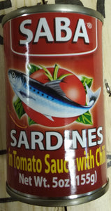 SABA Sardines In Tomato Sauce With Chili