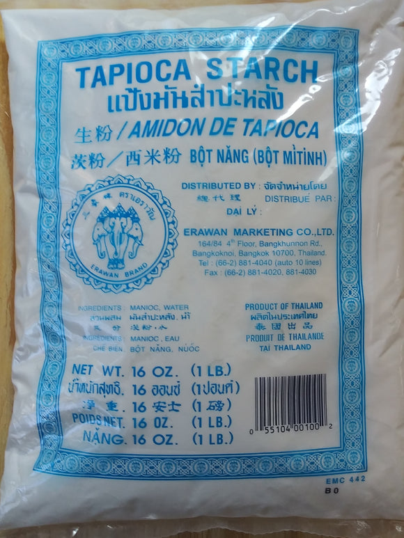 Erawan Tapioca Starch One Pound Fine Powder