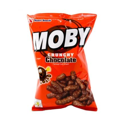 Moby Crunchy Chocolate Flavored Corn Snack
