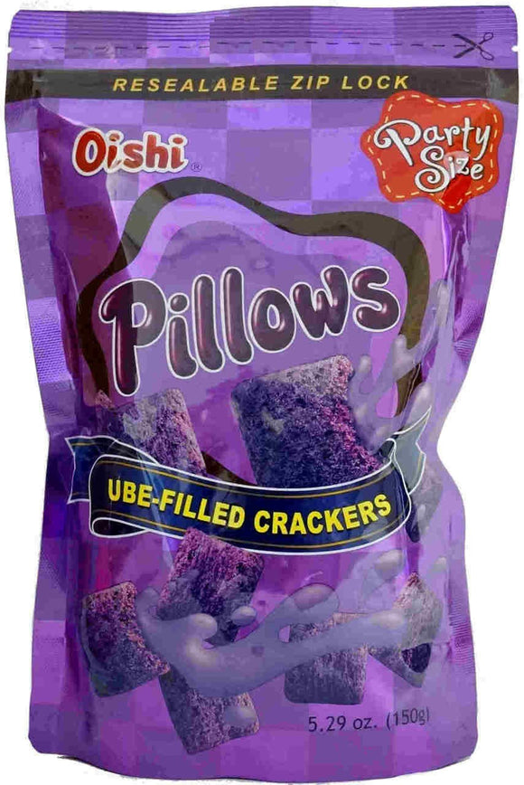 Oishi Pillows Ube Filled Crackers