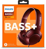 Philips Bass+ SHL3075 Closed-Back Headphone Wired Headset With Mic (Red)