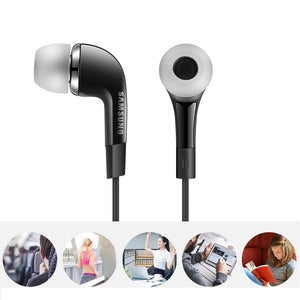 Samsung Earphone YR For Galaxy J3(2017) (High Bass, In-Ear, Black)
