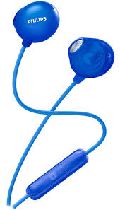 Philips UpBeat SHE2305 Earphone Wired Headset With Mic (Blue, In-Ear)