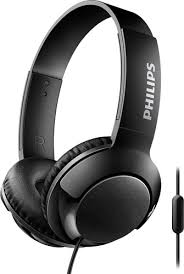 Philips Bass+ SHL3075 Closed-Back Headphone Wired Headset With Mic (Black)
