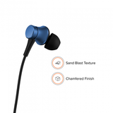 Redmi Basic Wired Headset Handsfree Earphone For Xiaomi GO (High Bass , In-Built Mic, Wired In-Ear ,Blue)