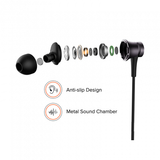 REDMI BASIC WIRED HEADSET HANDSFREE EARPHONE FOR XIAOMI Mi Note 5 (High Bass , In-Built Mic, Wired In-Ear ,Black)
