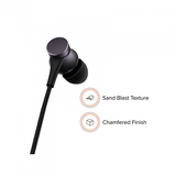 REDMI BASIC WIRED HEADSET HANDSFREE EARPHONE FOR XIAOMI Mi 7 (High Bass , In-Built Mic, Wired In-Ear ,Black)