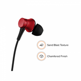 Redmi Basic Wired Headset Handsfree Earphone For Xiaomi Note 6 Pro (High Bass , In-Built Mic, Wired In-Ear ,Red)