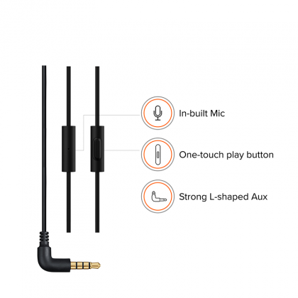 Redmi Basic Wired Headset Handsfree Earphone For Xiaomi Poco F1 (High Bass , In-Built Mic, Wired In-Ear ,Blue)